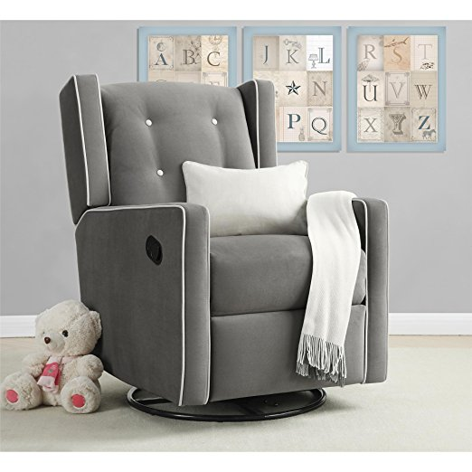 Best Chairs For Your Baby Nursery Relax Mikayla Swivel Glider Recliner