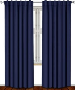 Baseball Nursery Theme - Blackout Navy Curtains