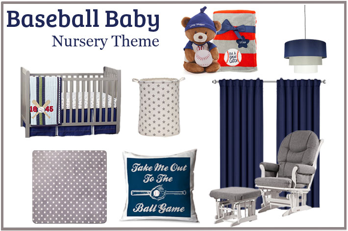 Weve Done Our Best To Choose Pieces In The Baseball Space That Will Make For A Cohesive Design We Stuck Soothing Classic Color Palette Of Navy